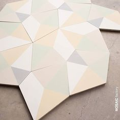 Patchwork Tiles, Pentagon Shape, Unique Flooring, Geometric Tiles, Cement Crafts, House Tiles, Concrete Tiles, Mosaic Tiles, Wall Tiles