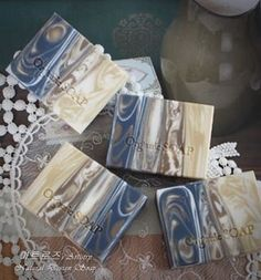 Love the movement and colors in this artisan soap