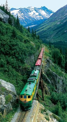 Skagway, Alaska an amazing train ride back into the gold fever country.A must do on your trip to Skagway, Alaska ! Dream Vacations, Vacation Spots, Places To Travel, Places To See, Shopping Places, Trains, Magic Places, Skagway Alaska, Scenic Train Rides