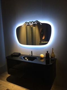 Bathroom mirror backlight design