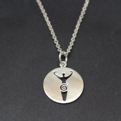 567ae128a3 Silver Goddess Necklace - Goddess Jewelry, Pagan Gift, Wiccan Gift, WIcca,  Mother's