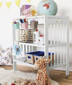 Parents asked a group of crafty bloggers to make over a diapering station with just $50 and basic supplies from their home. Get inspired by their thrifty transformations, like this one: an art cart.