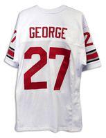 Eddie George Ohio State Buckeyes Autographed White Throwback Jersey  Inscribed
