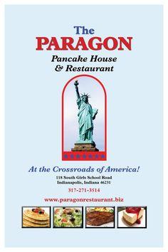 The Menu - Paragon Restaurant Indianapolis, IN
