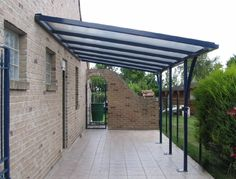 Steel Pergola With Canopy — Patio Design and Ideas