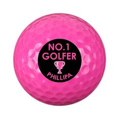 Personalised Pink Golf Ball - No.1 Golfer Personalized Pencils, Personalized Wine, Gifts For Sports Fans, Be My Bridesmaid Cards, Golf Ball, Pink, Characters, Note, Etsy