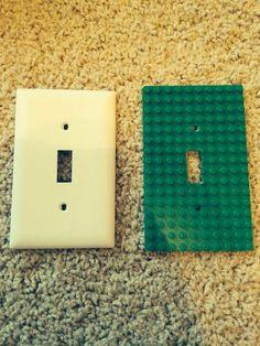 DIY lego light plate cover