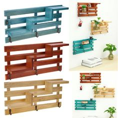 Eco-friendly wall mounted shelf