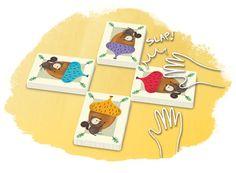 """The Sneaky Snacky Squirrel game [16€]  Edad: A partir de 3 años.  Editorial: Educational Insights  Descripción: Has de conseguir todas las bellotas del árbol, haciendo rodar una ruleta que indicará qué acción hacer: coger una bellota de un color, o con un numero dirá si cogemos 1 o 2 bellotas (eligiendo el color que queremos). Hay otros factores como """"la ardilla ladrona"""" para poder quitar bellotas al resto de jugadores, o el viento que puede tirar todas las bellotas."""