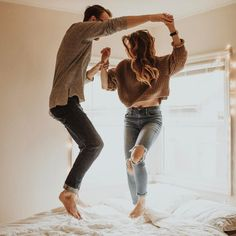 Sometimes you just have to dance on the bed with your spouse #relationships #relationshipadvice #fungames
