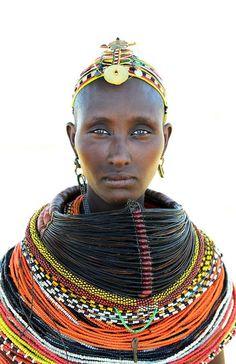 Rendile woman, Kenya, Photographer unknown