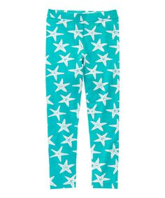 Look at this Deep Aqua Starfish Leggings - Girls on #zulily today!