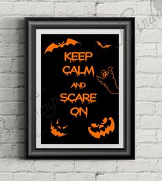 Wall Prints – Halloween Decor, Autumn Print, fall, pumpkin – a unique product by LindaButtercupDesign on DaWanda