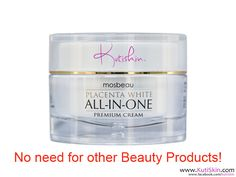 #Mosbeau * #Placenta #White All-In-One Premium #Cream (70-g)  Distributed in USA and Canada since 2012 by KutiSkin (http://www.KutiSkin.com)