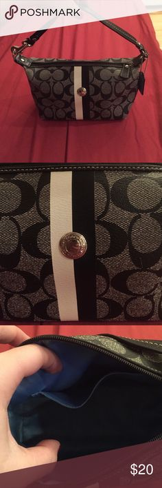 Coach handbag Small, cute for summer bag. Black & white goes with everything. Used a few times has been in storage. Coach Bags Shoulder Bags