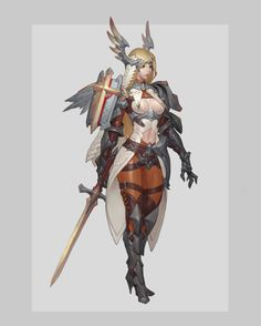 Combat Sister, Gouf Gouf on ArtStation at https://www.artstation.com/artwork/8GerE