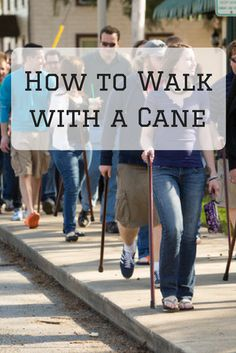 You've found the perfect cane to keep you moving through your life. Learn how to properly walk with a cane so you get the most benefit from your new toy. Walking canes for men, walking cane for women, how to use a cane, walking with a cane Walking With A Cane, Cool Walking Canes, Walking Sticks And Canes, Fibromyalgia Pain, Chronic Pain, Chronic Illness, Walking Staff, Knee Surgery