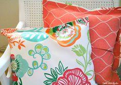 DIY No Sew Pillow Cover 2 ways ~ 2 different looks Fresh Idea Studio
