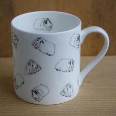Guinea Pig Mug - Warm Grey Guinea Pig Wrap Around