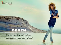 Denim Fabrics is an only fabric that makes you comfortable everywhere. Bhaskar Denim is counted as the largest Denim Fabric Manufacturers & supplier of top-quality denim fabric products.   #Denim #Fabrics #Denimjeans #Denimfabric