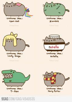 Cat costume ideas from Pusheen! Gato Pusheen, Pusheen Love, Chat Kawaii, Kawaii Cat, Kawaii Drawings, Cute Drawings, Crazy Cat Lady, Crazy Cats, Pusheen Stormy