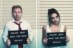 Una invitación de #boda estilo Bonnie & Clyde