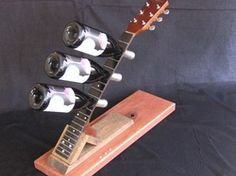 guitar neck wine rack