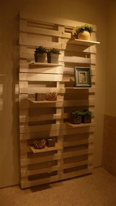 Wood Pallets Shelving