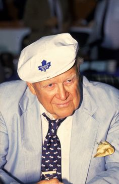 The man who sunk the ship. Harold Ballard, former owner of the Toronto Maple Leafs