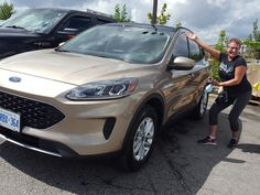 Kathleen Excited to pick up her #BrandNew #2020 #Ford #Escape #SE #AWD in #DesertGold She got #Ontario's #Best #Deal from #SamThapa, Sr Product Specialist at #EastCourt #Ford #Lincoln Drive A, Driving Test, Lincoln, Ontario, Ford, Brand New