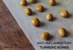 Anti-Inflammatory Turmeric Bombs | A high dose of turmeric can help reduce inflammation in the body.