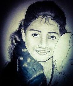 It's a Random Pencil Portrait of a girl!!.....how's it??
