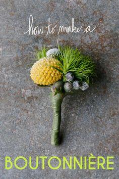 DIYboutonnieres: DIY wedding flowers DIY Make A Boutonniere