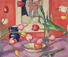 Tulips – The Blue Jug - Peploe Samuel