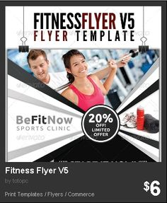 Fitness Flyer Bundle Set   Our Fitness Flyers Are For Your Gym