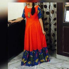 Kalamkari Designs, Churidar Designs, Frock Models, Kalamkari Dresses, Frock For Women, Elegant Saree, Anarkali Dress, Modern Outfits, Indian Designer Wear