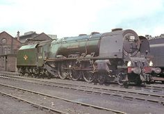 46255 'City of Hereford'. Coronation Class 4-6-2 at Carlisle (Kingmoor) shed. 12 July 1964