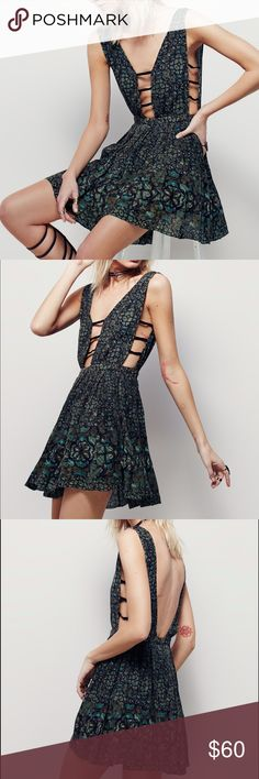 Free People One Java Cascade Mini Dress Beautiful free people dress only worn once! Great dress for all seasons! Free People Dresses