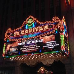 Disney's El Capitan Theatre on Hollywood Boulevard is popular for premieres, stage shows, and movies.