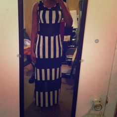 Dresses & Skirts - A black and white long dress