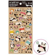 Carefree Panda Bear Kraft Sticker • Mind Wave Seals Nonki Na Nakama Sticker