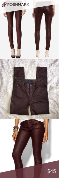 🆕 Gap Wax Wax Legging Jeans Size 8 / 29R. Legging, skinny fit. Front & back pockets.  They have slight stretch.  Slight Wax coated outer. Dark burgundy brownish.  Mid rise.  Gap brand. NWT- original price $65.00 GAP Jeans Skinny