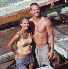 "Jessica Alba and Paul Walker made a smokin' hot pair when they teamed up to star in the 2005 film ""Into the Blue."" He played a surfer in the movie, which was likely a dream come true for Paul. ""Surfing soothes me, it's always been a kind of Zen experience for me,"" he once said. ""The ocean is so magnificent, peaceful and awesome. The rest of the world disappears for me when I'm on a wave."""