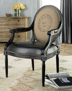 Traditional chair with stamped back. #bekmode