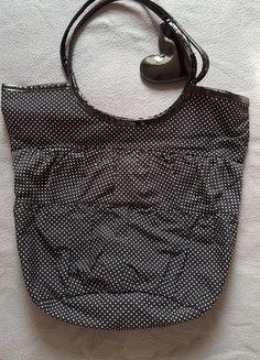 43ee3d16d8bb7 Czarna torba w kropki na ramię