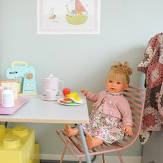 """Maria Sørskår on Instagram: """"Fineste dukken fra @minikids.no 😍 Denne elsker Konstanse å dulle med."""" Chair, Furniture, Instagram, Home Decor, Pink, Decoration Home, Room Decor, Home Furnishings, Stool"""
