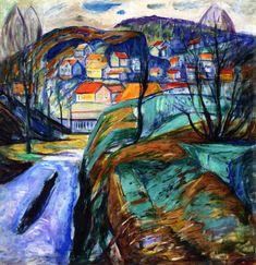 The Athenaeum - Kragerø in Spring (1929) (Edvard Munch - )                                                                                                                                                                                 Más