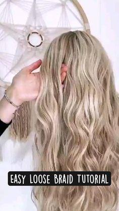 Hairdo For Long Hair, Braids For Short Hair, Easy Hair, Hair Down Styles, Updo Styles, Long Hair Styles, Short Hair Tutorials, Braided Hairstyles Tutorials, Hairstyle Ideas