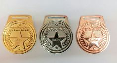 Medallas para concurso, material zamac.