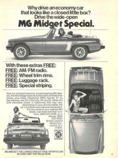 =-=1976 MG Midget Special ad
